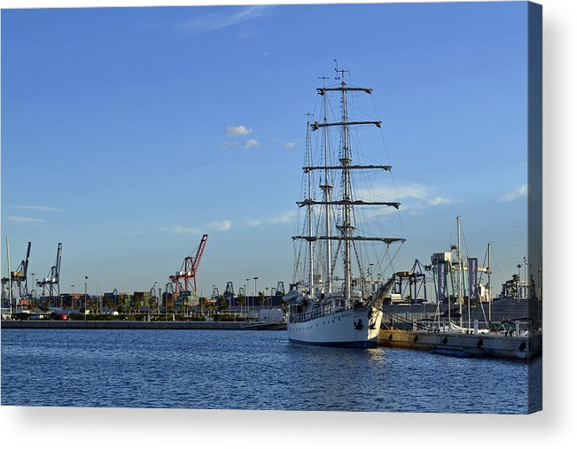 Valencia Acrylic Print featuring the photograph Sailing Ship by Miguel Ramos