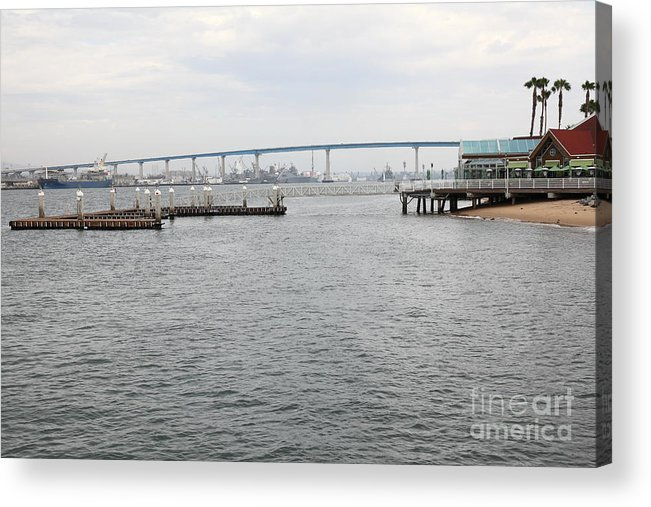 San Diego Acrylic Print featuring the photograph San Diego Coronado Bridge 5d24351 by Wingsdomain Art and Photography