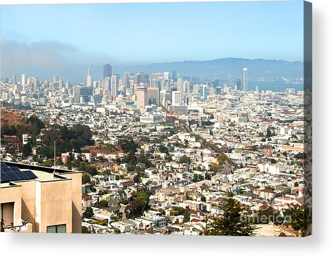 Acrylic Print featuring the photograph San Francisco City Vista by Artist and Photographer Laura Wrede
