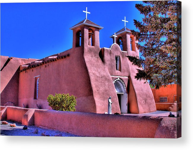 San Francisco Acrylic Print featuring the photograph San Francisco De Asis Mission Church by David Patterson