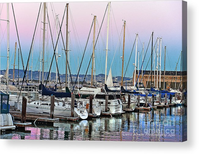 San Francisco Harbor At Pier 39 Acrylic Print featuring the photograph San Francisco Harbor At Pier 39 by Artist and Photographer Laura Wrede