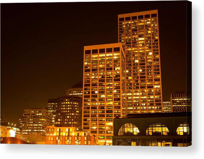 San Francisco Acrylic Print featuring the photograph San Francisco Skyline by Larry Fry