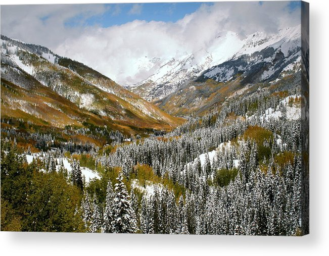 San Acrylic Print featuring the photograph San Juan Mountains After Recent Snowstorm by Jetson Nguyen