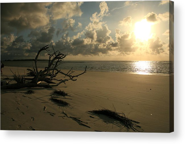 Beach Acrylic Print featuring the photograph Sapelo Sunrise by Barbara Northrup
