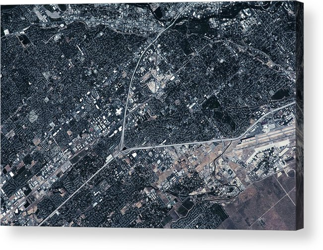 Photography Acrylic Print featuring the photograph Satellite View Of Boise, Idaho, Usa by Panoramic Images