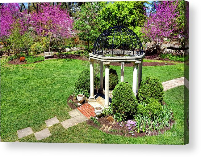 Sayen Acrylic Print featuring the photograph Sayen Garden Spring by Olivier Le Queinec