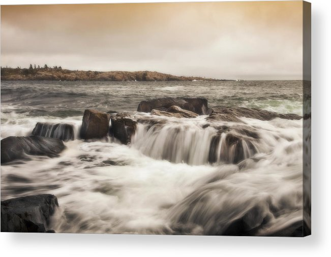 Schoodic Point Acrylic Print featuring the photograph Schoodic Point Acadia National Park by Don Powers