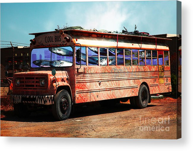 Wingsdomain Acrylic Print featuring the photograph School Bus 5d24927 by Wingsdomain Art and Photography