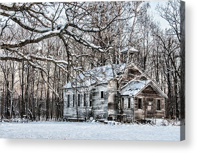 Old School House Acrylic Print featuring the photograph School Out Forever by Paul Freidlund