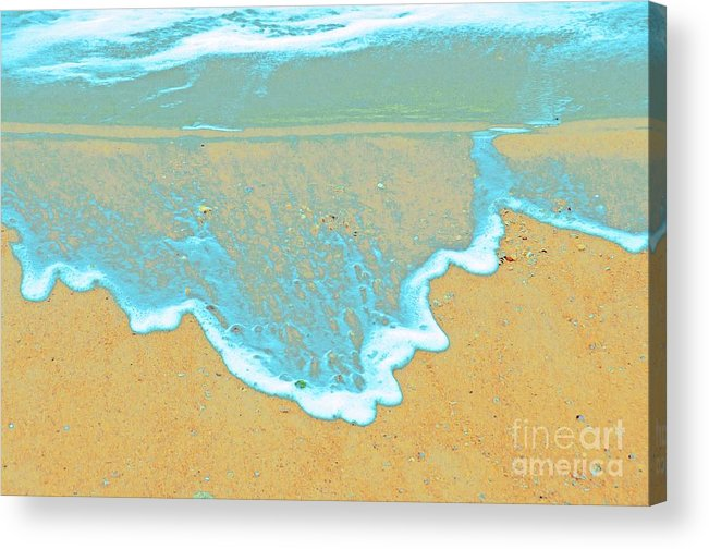 Water Protographs Acrylic Print featuring the photograph Seafoam Abstract by Cindy Lee Longhini