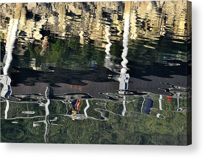 Seawalk Acrylic Print featuring the photograph Seawalk Reflected by Cathy Mahnke