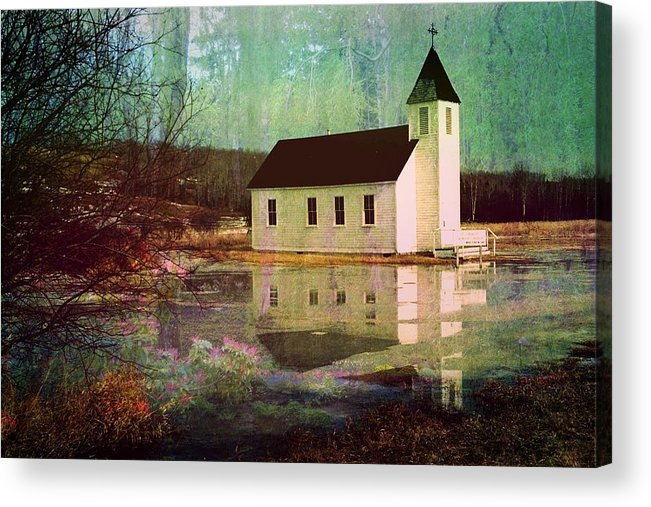 Church Acrylic Print featuring the photograph Secluded Sanctum by Shirley Sirois