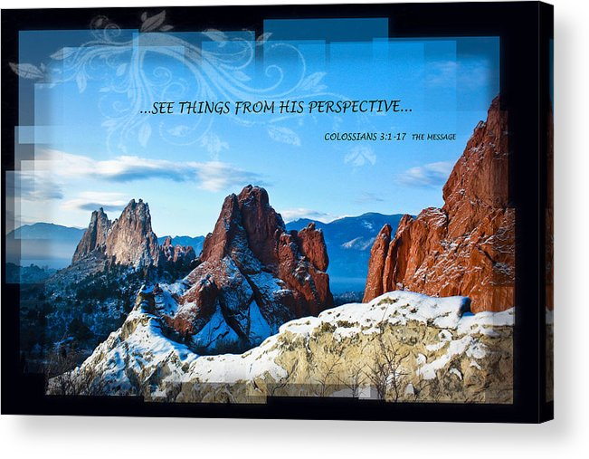 Snow Acrylic Print featuring the photograph See Things From His Perspective by Bruce Hamel