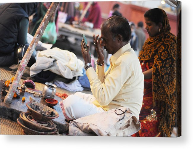 India Acrylic Print featuring the photograph Self Decoration by Money Sharma
