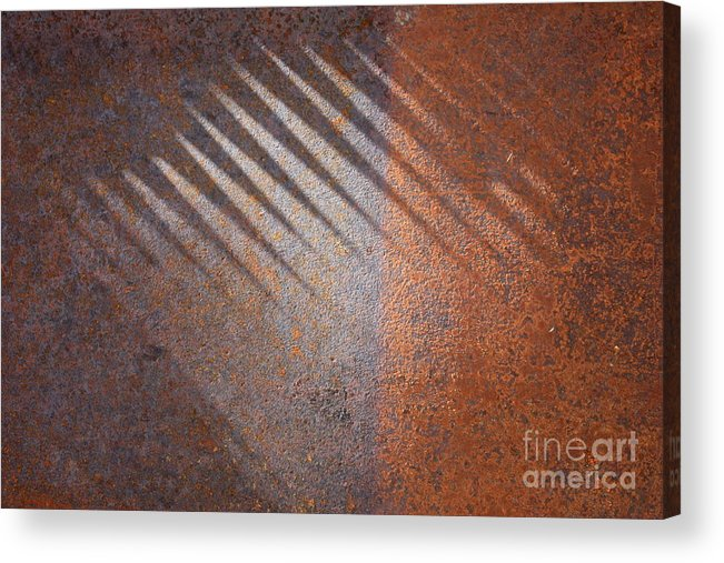 Rust Acrylic Print featuring the photograph Shadows And Rust by Carol Groenen