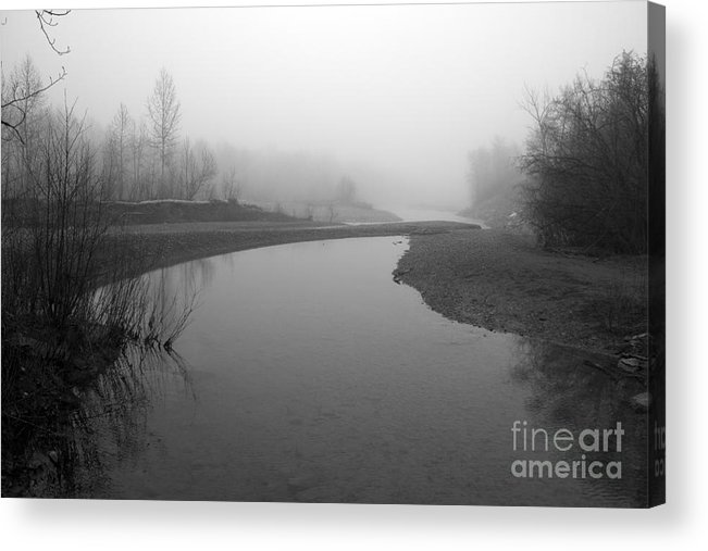 Sheep River Acrylic Print featuring the photograph Sheep River On A Foggy Day 2 by Cheryl Hurtak