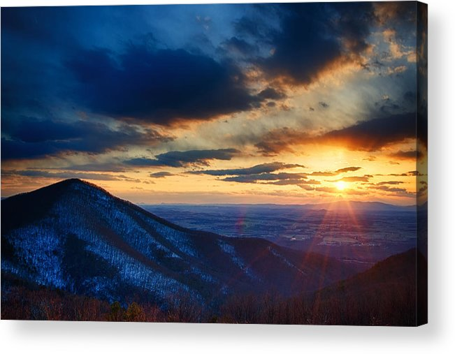Park Acrylic Print featuring the photograph Shenandoah Sunset by Joan Carroll