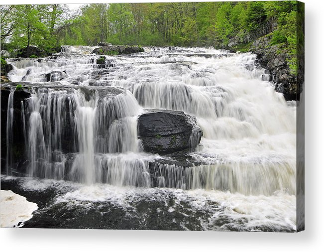 Waterfalls Acrylic Print featuring the photograph Shohola Falls by Dan Myers