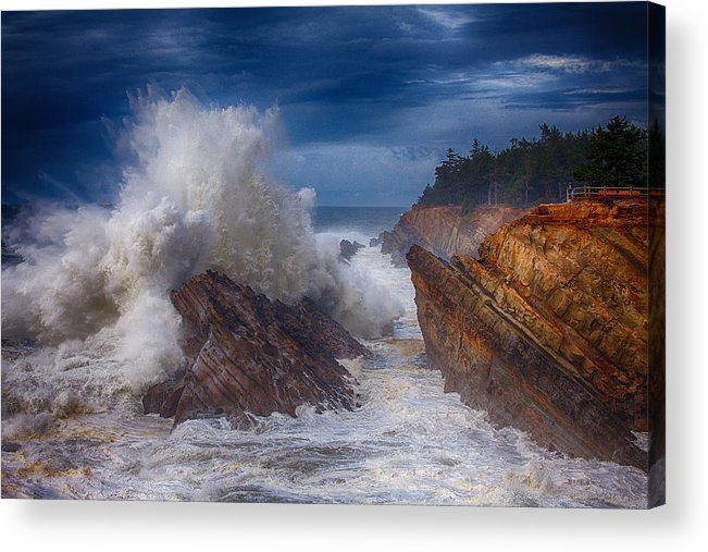Storm Acrylic Print featuring the photograph Shore Acre Storm by Darren White