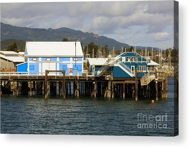 Sidney Acrylic Print featuring the photograph Sidney Harbour Wharf by Louise Heusinkveld