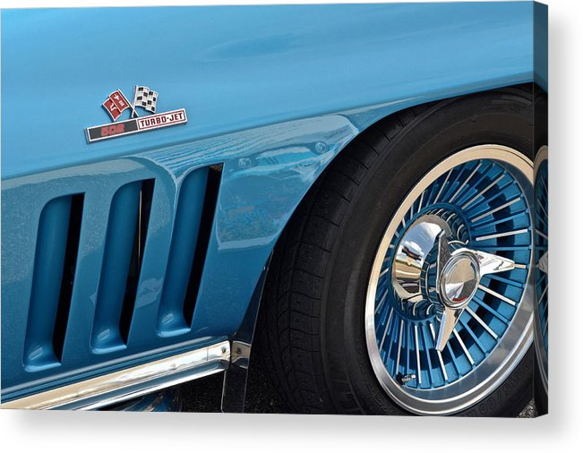 Corvette Acrylic Print featuring the photograph Sixty Six Corvette Roadster by Frozen in Time Fine Art Photography