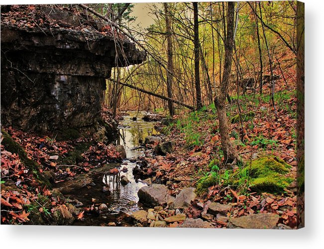 Arkansas Acrylic Print featuring the photograph Slate Bottom Creek by Benjamin Yeager