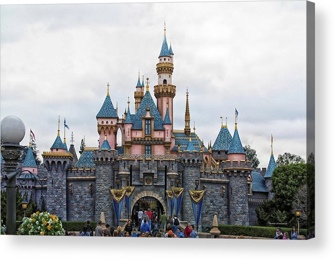 Sleeping Beauty Castle Disneyland Front View Acrylic Print by Thomas ...