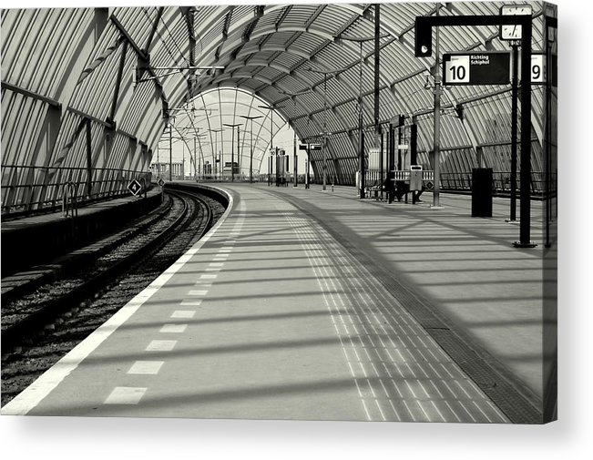 Station Acrylic Print featuring the photograph Sloterdijk Station In Amsterdam by Jolly Van der Velden