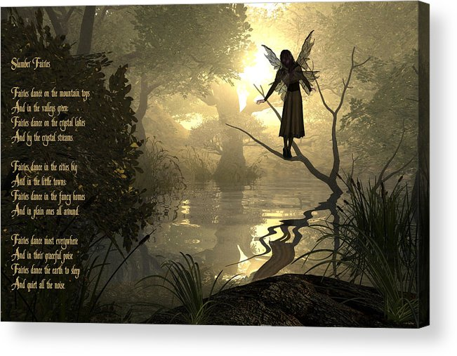 Fairy Poem Acrylic Print featuring the photograph Slumber Fairies by Randi Kuhne