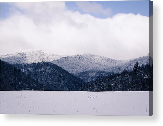 Winter Landscapes Acrylic Print featuring the photograph Snow In The Blue Ridge Mountains by Mela
