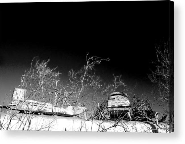 Snow Machines On The Roof Acrylic Print featuring the digital art Snow Machines On The Roof by William Fields