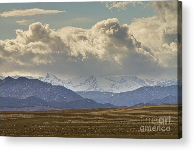 Rocky Mountains Acrylic Print featuring the photograph Snowy Rocky Mountains County View by James BO Insogna