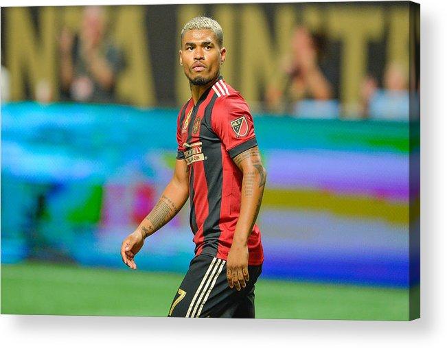 buy popular a4308 c8a61 Atlanta Acrylic Print featuring the photograph Soccer  Sep 20 Mls - La  Galaxy At Atlanta