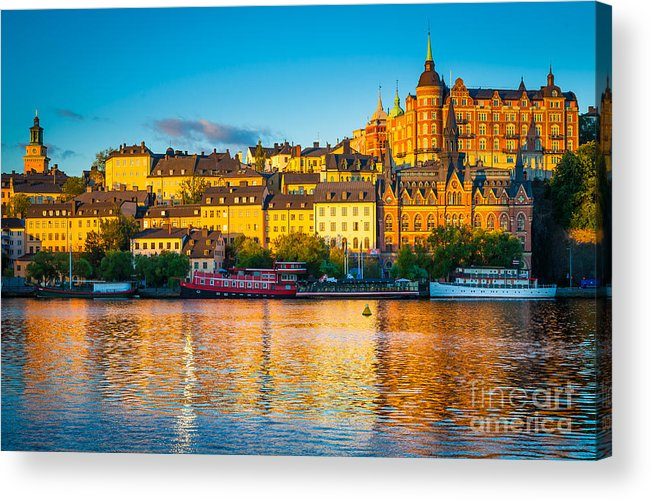 Europe Acrylic Print featuring the photograph Sodermalm Skyline by Inge Johnsson