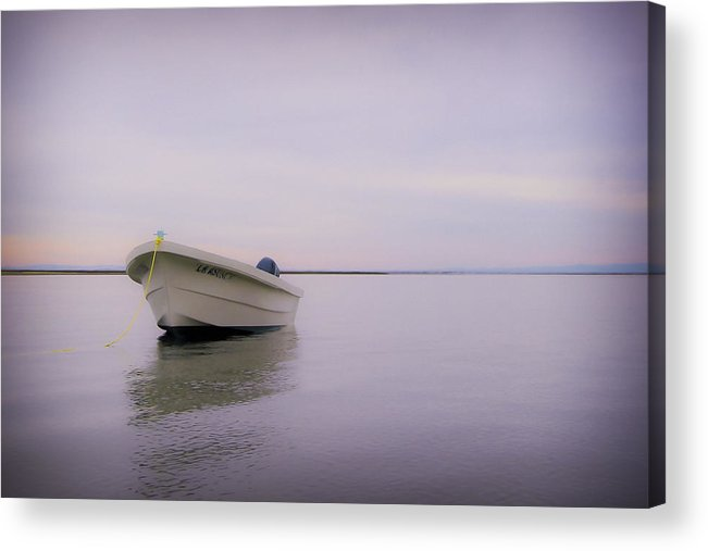 3scape Photos Acrylic Print featuring the photograph Solitary Boat by Adam Romanowicz