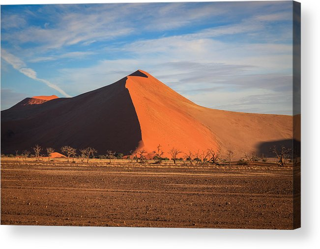 Namibia Acrylic Print featuring the photograph Sossusvlei Park Sand Dune by Gregory Daley MPSA