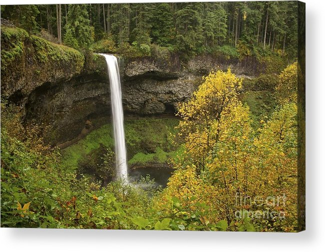 Photography Acrylic Print featuring the photograph South Falls In Autumn by Sean Griffin