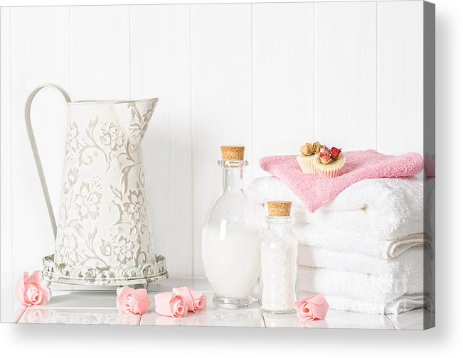 Spa Acrylic Print featuring the photograph Spa Setting by Amanda Elwell