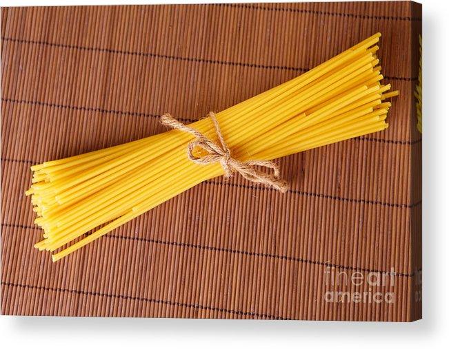 Noodles Acrylic Print featuring the photograph Spaghetti Italian Pasta by Monika Wisniewska