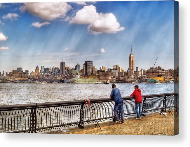 Savad Acrylic Print featuring the photograph Sport - Fishing by Mike Savad