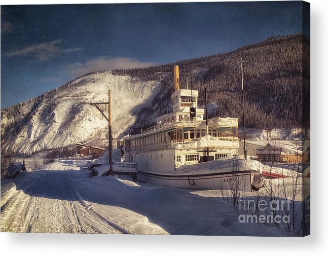 Steamboat Acrylic Print featuring the photograph S.s. Keno Sternwheel Paddle Steamer by Priska Wettstein