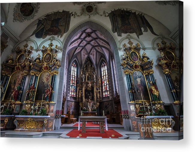 St Maurice Acrylic Print featuring the photograph St. Maurice Church - Appenzell - Switzerland by Gary Whitton