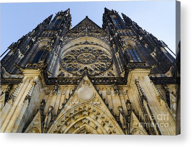 Prague Acrylic Print featuring the pyrography St Vitus Church In Hradcany Prague by Jelena Jovanovic