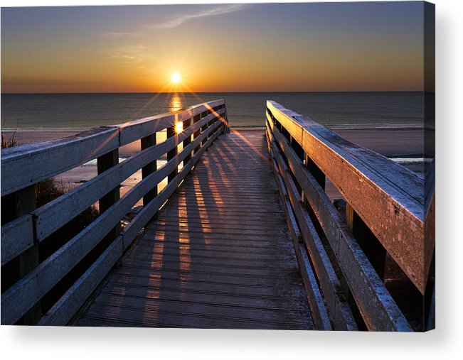Clouds Acrylic Print featuring the photograph Stars On The Boardwalk by Debra and Dave Vanderlaan