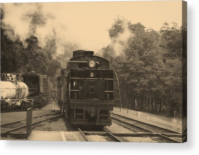 Horizontal Acrylic Print featuring the photograph Steam Locomotive by Christopher Purcell