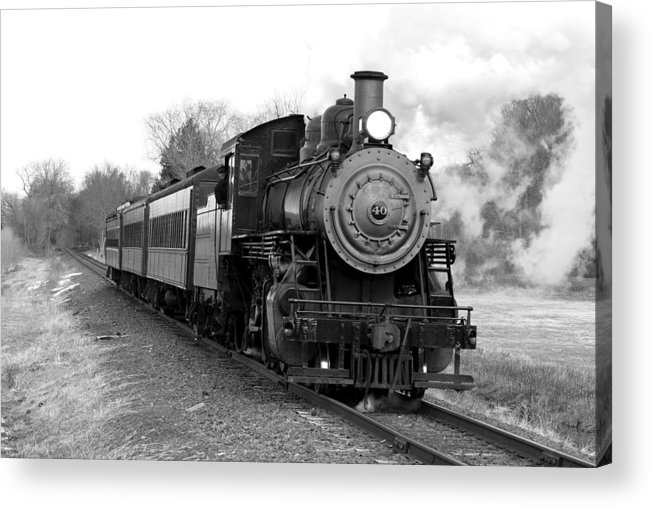L&c Railway Acrylic Print featuring the photograph Steam Train by Joseph C Hinson