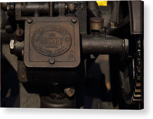 Stickney Acrylic Print featuring the photograph Stickney Hit And Miss Engine by Pat Williams