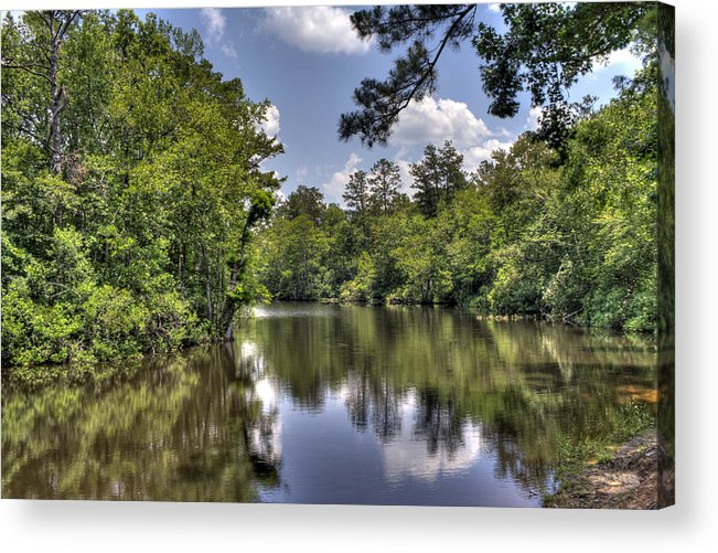 River Acrylic Print featuring the photograph Still Waters by David Troxel