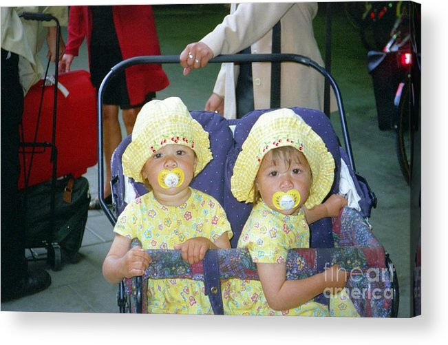 Sweden Acrylic Print featuring the photograph Stockholm City Center Twins by Ted Pollard