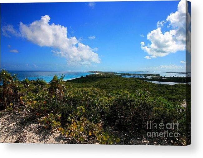 Cheryl Hurtak Acrylic Print featuring the photograph Stocking Island Exuma Bahamas by Cheryl Hurtak